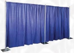 Where to rent PIPE   DRAPE 10  BLUE PER FOOT in Spartanburg SC