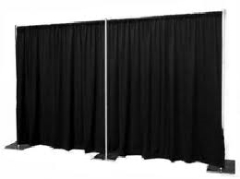 Where to rent PIPE   DRAPE 8  BLACK PER FOOT in Spartanburg SC