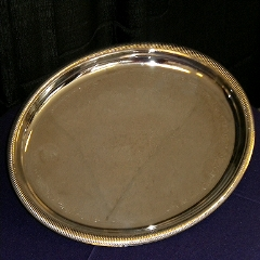 Where to rent 12  ROUND SERVING TRAY SILVER in Spartanburg SC