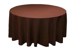 Where to rent 60 X120  TABLECLTH, CHOCOLATE in Spartanburg SC