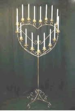 Where to rent CANDELABRA, SINGLE BRASS HEART in Spartanburg SC