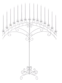 Where to rent CANDELABRA, FAN, WHITE in Spartanburg SC