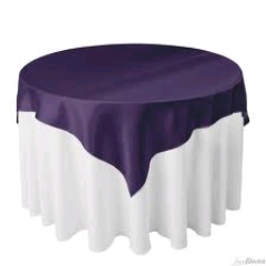 Where to rent 54 X54  OVLY TABLECLTH, PURPLE in Spartanburg SC