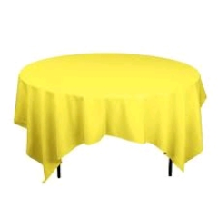 Where to rent 54 X54  OVLY TABLECLTH, LEMON in Spartanburg SC