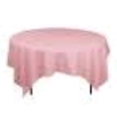 Where to rent 72 x72  OVLY TABLECLTH, LT PINK in Spartanburg SC