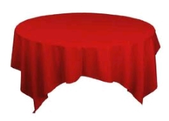 Where to rent 72 x72  OVLY TABLECLTH,  RED in Spartanburg SC
