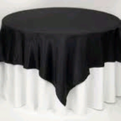 Where to rent 72 x72  OVLY TABLECLTH, BLACK in Spartanburg SC
