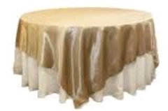 Where to rent 72 X72  OVLY TABLECLTH, GOLD LAME in Spartanburg SC