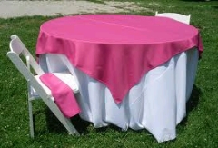 Where to rent 72 X72  OVLY TABLECLTH, HOT PNK in Spartanburg SC