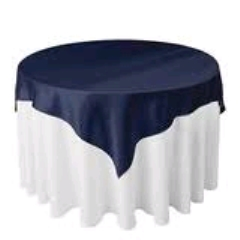 Where to rent 70 x70  OVLY TABLECLTH, NAVY in Spartanburg SC