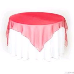 Where to rent 72 x72  OVLY TABLECLTH, RED SPARKLE in Spartanburg SC