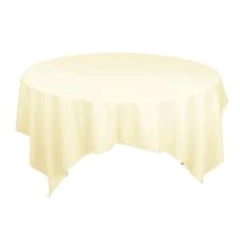 Where to rent 72 X72  OVLY TABLECLTH, IVORY in Spartanburg SC