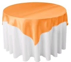 Where to rent 70 X70  OVLY TABLECLTH, ORANGE in Spartanburg SC
