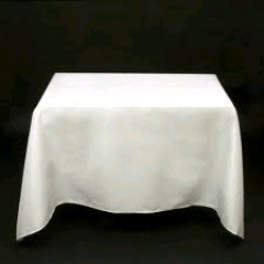 Where to rent 90 X90  TABLECLTH, WHITE in Spartanburg SC
