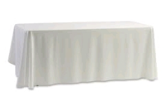 Where to rent 90 X156  TABLECLTH,  WHITE in Spartanburg SC