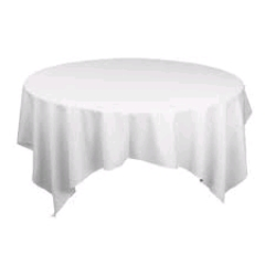 Where to rent 72 X72  OVLY TABLECLTH, WH in Spartanburg SC
