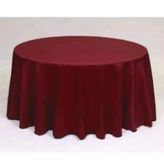 Where to rent 90  TABLECLTH, BURGUNDY in Spartanburg SC