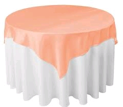 Where to rent 72 X72  OVLY TABLECLTH, PEACH in Spartanburg SC