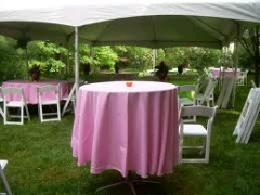 Where to rent 90  TABLECLTH, PINK in Spartanburg SC