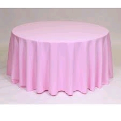 Where to rent 60 X120  TABLECLTH, PINK in Spartanburg SC