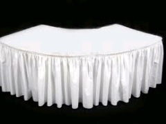 Where to rent 42 X84  TABLECLTH, SERPENTINE, WHITE in Spartanburg SC