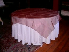 Where to rent OVLY TABLECLTH, SHIMMER COPPER in Spartanburg SC