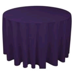 Where to rent 120  TABLECLTH, DARK PURPLE in Spartanburg SC
