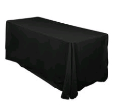 Where to rent 90 X156  TABLECLTH,  BLACK in Spartanburg SC