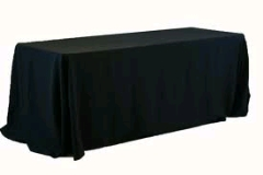 Where to rent 90 X132  TABLECLTH BLACK in Spartanburg SC