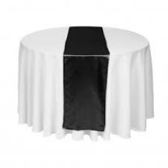 Where to rent TABLE RUNNER, BLACK 12 X96 in Spartanburg SC