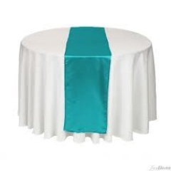 Where to rent TABLE RUNNER, BLUE 12 X96 in Spartanburg SC