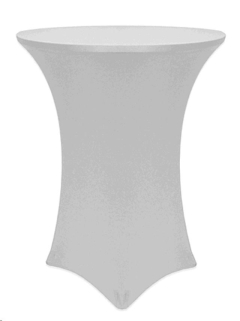 Where to rent 36  Spandex Table Cover - Silver 36R-42 in Spartanburg SC