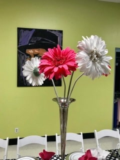 Where to rent OVERSIZED FLOWER DECOR. - WHITE in Spartanburg SC