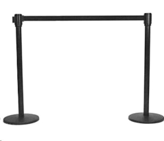 Where to rent STANCHION, 8FT BLACK RETRACTABLE in Spartanburg SC