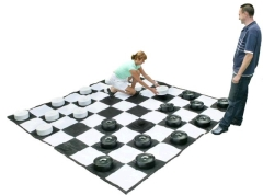 Where to rent GIANT CHECKERS SET W MAT, 9 X9 in Spartanburg SC