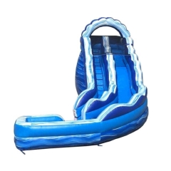Where to rent WET SLIDE 14 - BLUE MARBLE CURVED SLIDE in Spartanburg SC